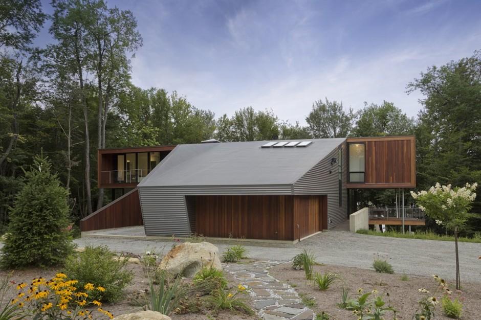 Berkshire pond house par david jay weiner becket usa construire tendance - Maison bershire pond david jay weiner ...