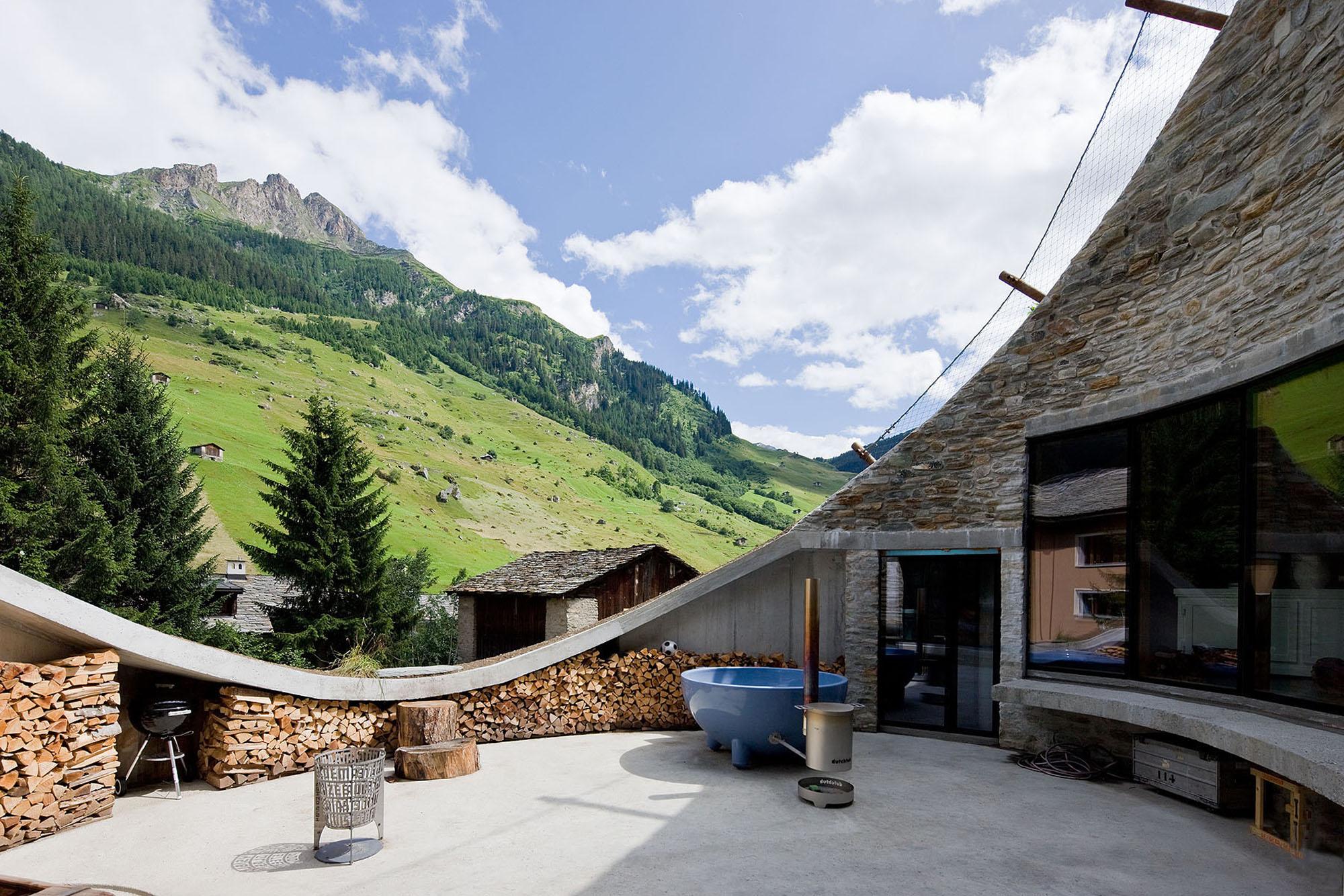 Préférence Maison enterrée par Search et CMA – Vals – Suisse | Construire  QD55